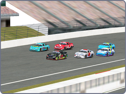 Bunched up out of Turn 4 at Rockingham (DoT 2)